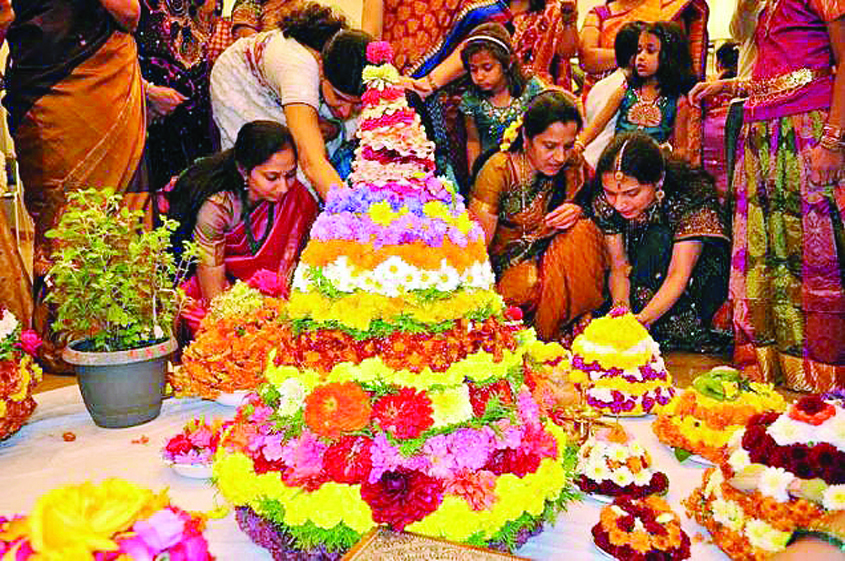 The Bathukamma, a part of Dasara festivities, is unique to Telangana. This colourful festival has historic, ecological and religious significance.