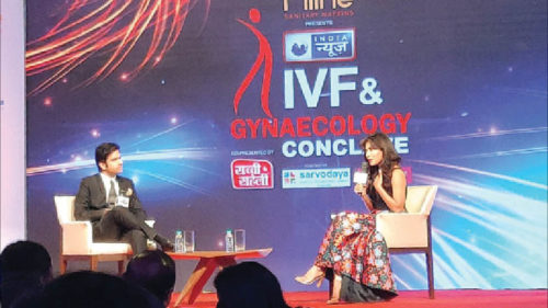 Actor-producer Chitrangada Singh at the India News IVF & Gynaecology conclave on Tuesday.