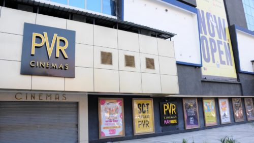 Amritsar: A cinema theater remains shut amid COVID-19 pandemic, in Amritsar on March 15, 2020. (Photo: IANS)