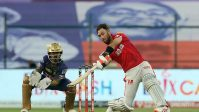 Glenn Maxwell of Kings XI Punjab plays a shot